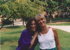 Photo of myself (age 21) and my mother